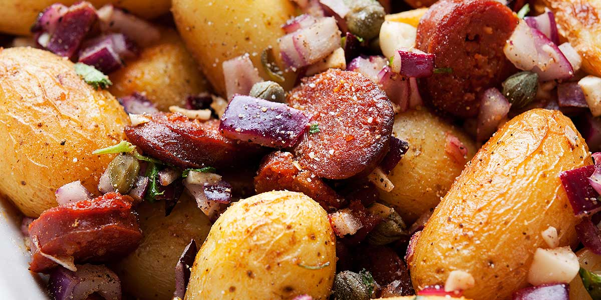 råstekte poteter i skiver
