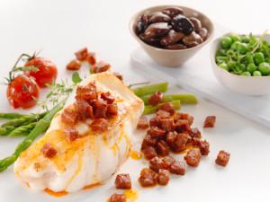 Bakt torsk med chorizo