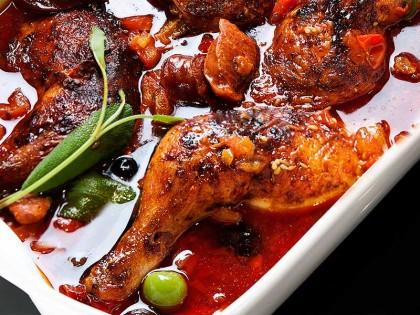 Chorizo med kyllinglår og oliven